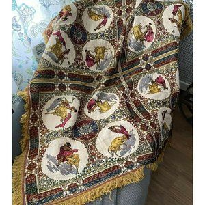 SPANISH THEME TABLE COVER TAPESTRY PIANO SHAWL